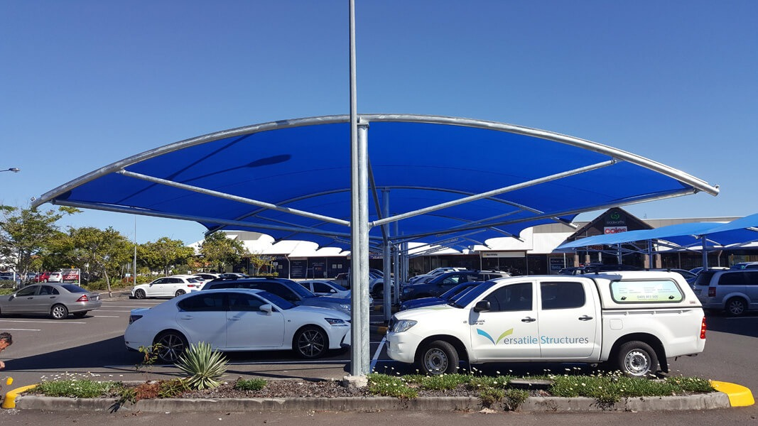 Shade Sails For Vehicles : Car park shade structures versatile